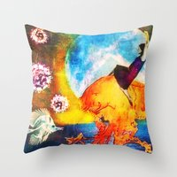 moonrise Throw Pillows featuring Moonrise by SMartin Collages