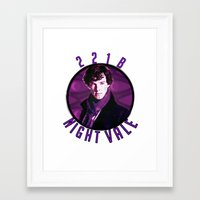 wtnv Framed Art Prints featuring Sherlock: WTNV AU by Paris Noonan
