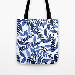 Watercolor branches - blue Tote Bag