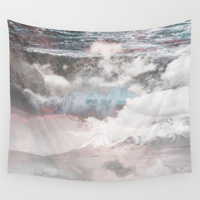 Crashing Clouds Wall Tapestry
