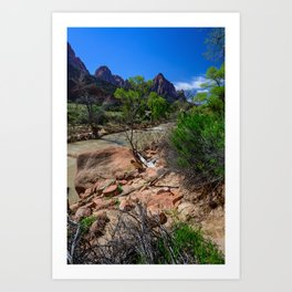 The_Watchman - Spring in Zion_National_Park, UT Art Print