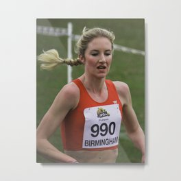 Cross country can be a hard thing to do. Metal Print