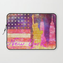 New York USA Statue of Liberty Laptop Sleeve