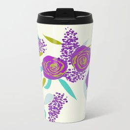 Vibrant Bouquet Metal Travel Mug