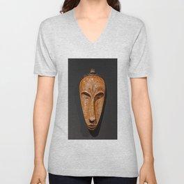 african Fang Ngil wooden mask Unisex V-Neck