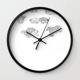Froggy Lovin Wall Clock