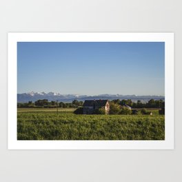 Old Homestead, Gallatin County, Montana Art Print