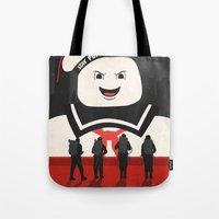 ghostbusters Tote Bags featuring Ghostbusters by Bill Pyle