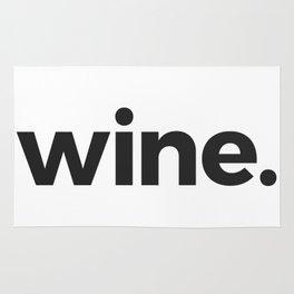 wine. Rug