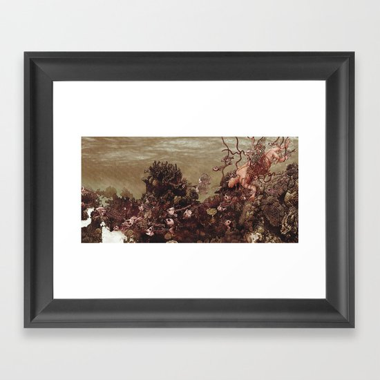 Because of Me, I Lay to Rest with You Framed Art Print