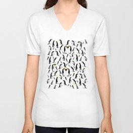 Penguin pattern Unisex V-Neck