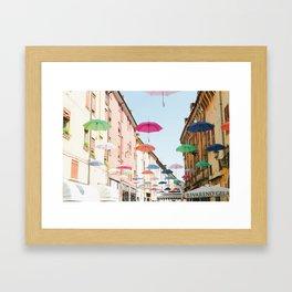Umbrellas of Ferrara III Framed Art Print
