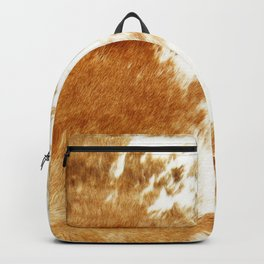 Golden Brown Cow Hide Backpack