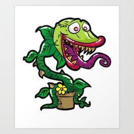 HAPPY VENUS FLYTRAP carnivorous plant funny gift Art Print