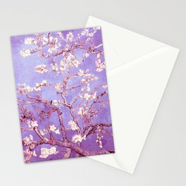 Van Gogh Almond Blossoms Orchid Purple Stationery Cards