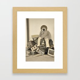 wasted minds Framed Art Print