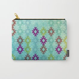 Santa Fe Dreams Geometric Aztec Colorful Design Carry-All Pouch