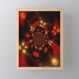 Christmas-Fractal Framed Mini Art Print