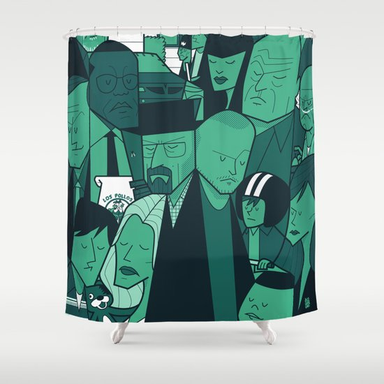 Breaking Bad (green version) Shower Curtain