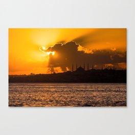 Istambul's Sunset Canvas Print