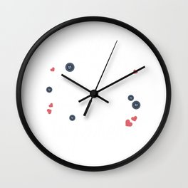 Mothers Are Like Buttons Wall Clock
