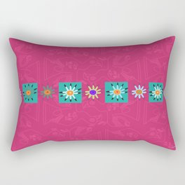Paracas flowers Rectangular Pillow