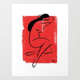 Red Girl 1 Art Print