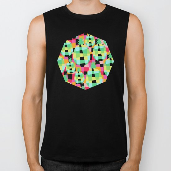 Pop-Pineapple Biker Tank