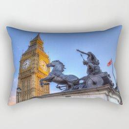 Big Ben and Boadicea Statue  Rectangular Pillow