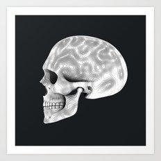 Organic White Skull 02 Art Print
