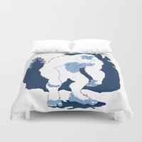 yeti Duvet Covers featuring Yeti by Rachel Young