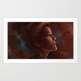 Captain Kathryn Janeway Art Print