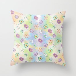Candy Flowers 1 Throw Pillow