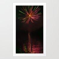 Firework Flower Art Print