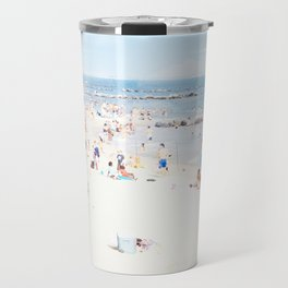 Blue Beach Brooklyn Travel Mug