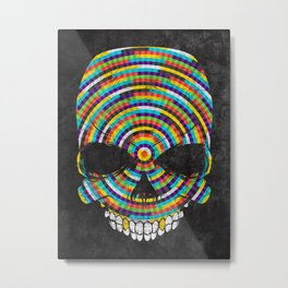 Hypnotic Skull Metal Print