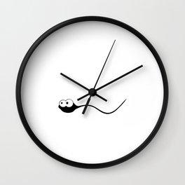 When Feeling Down Remember You're Sperm that Won T-Shirt Wall Clock