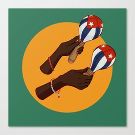 Cuban Maracas Canvas Print