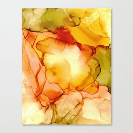 Candy Corn: Original Abstract Alcohol Ink Painting Canvas Print