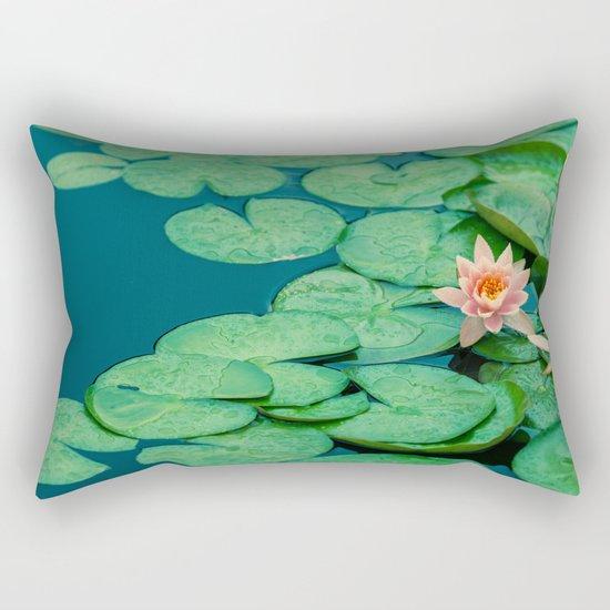 Lily Pond Rectangular Pillow