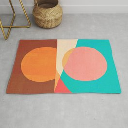 Abstraction_SUN_MOON_REFLECTION_DAY_NIGHT_POP_ART_M2007A Rug