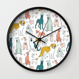Doggy Doodles  Wall Clock