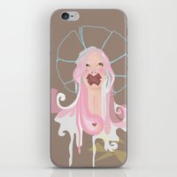 emily rickard iPhone & iPod Skins featuring Emily by ari hearts art