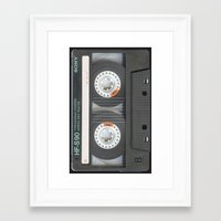 tape Framed Art Prints featuring Tape by Cloz000