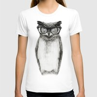 owls T-shirts featuring Mr. Owl by Isaiah K. Stephens