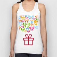 gift card Tank Tops featuring Gift by aleksander1
