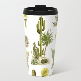 Antique Vintage Botanical Cacti Illustration Print Travel Mug