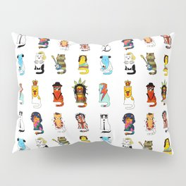 Famous Music Cats – Most Popular Musicians of the World Pillow Sham