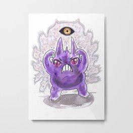 Mean Look Metal Print
