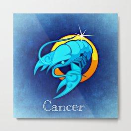 Zodiac_Sign_Cancer Metal Print